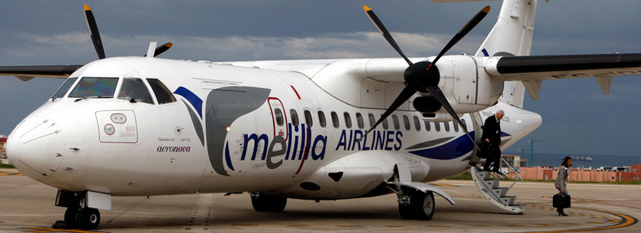 Melilla Airlines operates an ATR-42-300 between Melilla and Málaga. Picture: Melilla Airlines