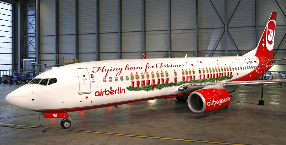 Merry Christmas from Air Berlin! Picture: Air Berlin