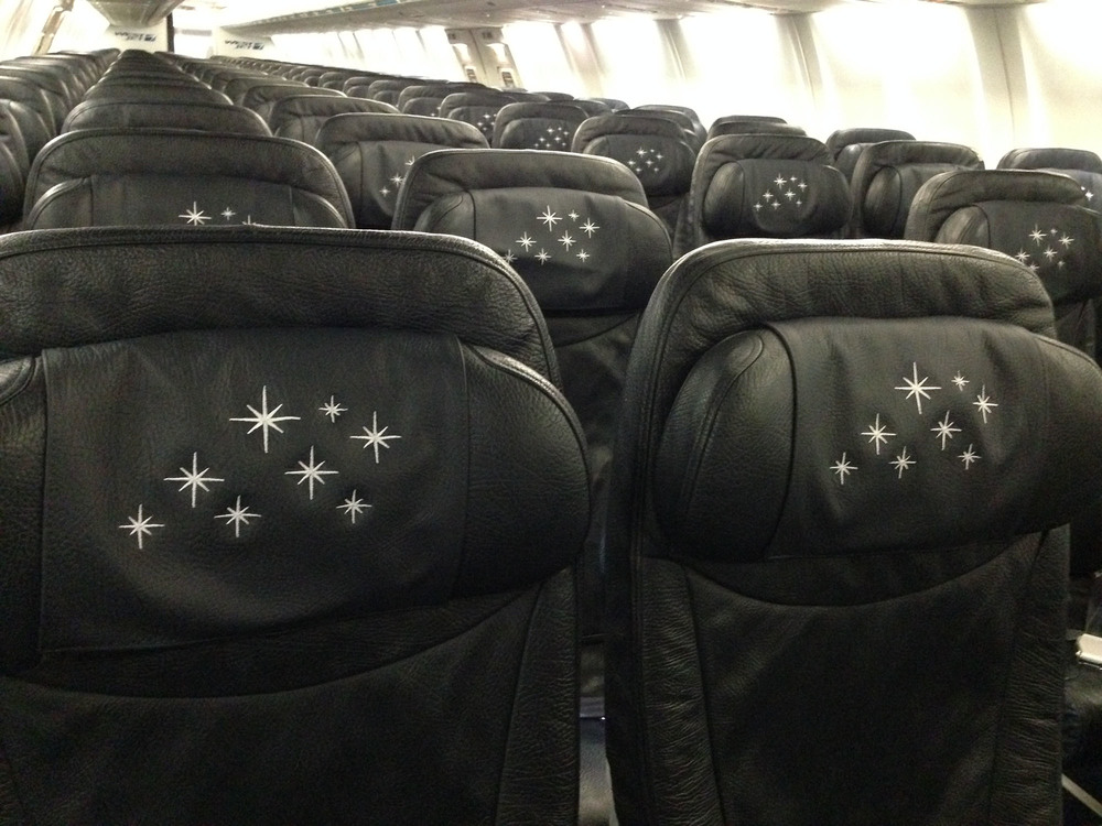 "Not only the outside of the ""Magic Plane"" has been decorated. Picture:  WestJet"