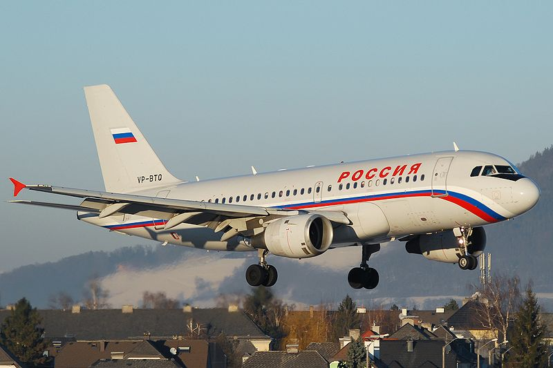 A Rossiya Airlines A319. Picture: Wikipedia