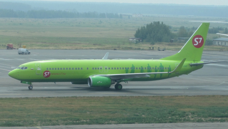 Sibir, also known as S7, and member of the Oneworld Alliance was Russia's fourth in the ranking of Russian airlines by number of passengers with 7,084,599 (+11.6%)