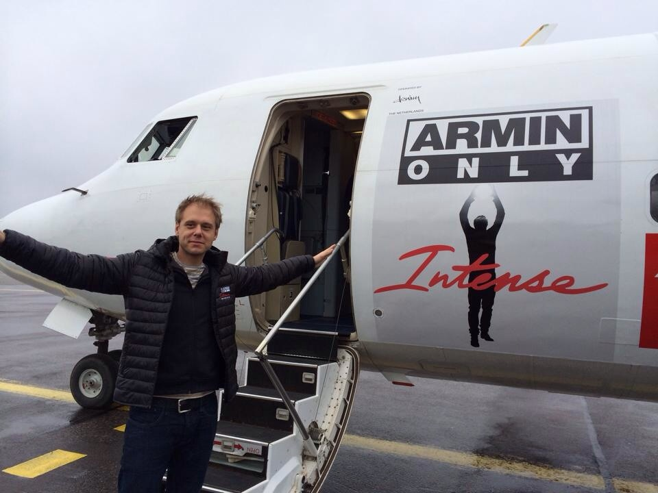 Armin van Buuren, about to board its specially dedicated Fokker F50 aircraft. Picture: Denim Air