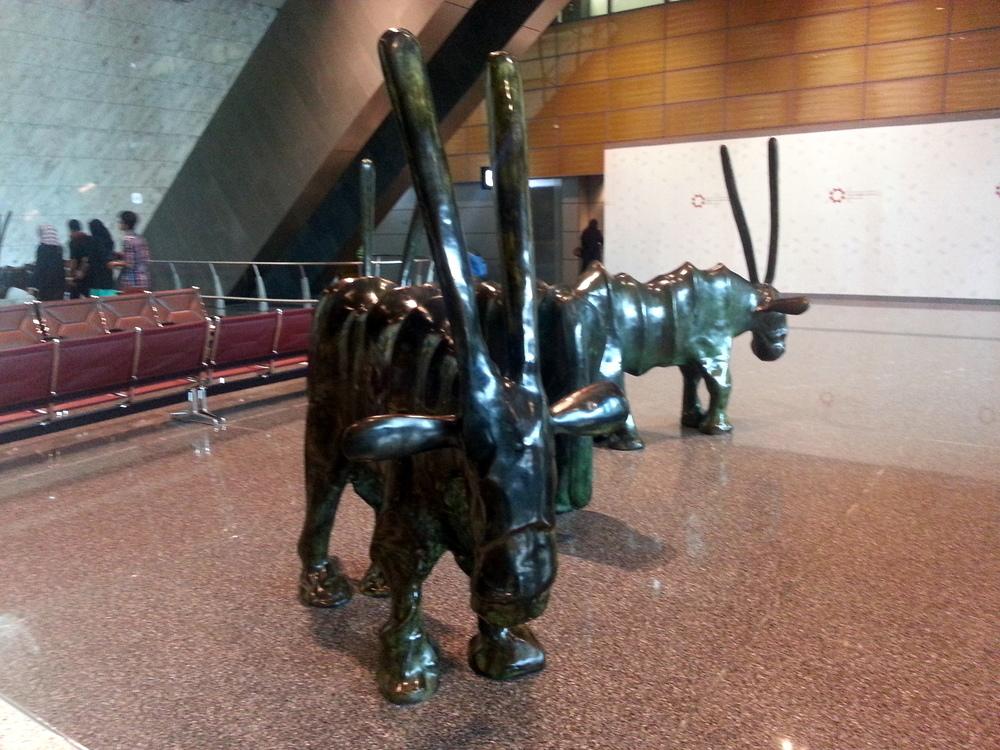 Qatar airport oryx