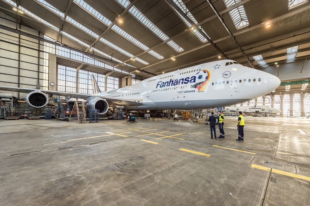"As corresponds to one of the World's football powerhouses, Lufthansa has painted not only one aircraft in ""Fanhansa"" World Cup livery, but two... Picture: Lufthansa"