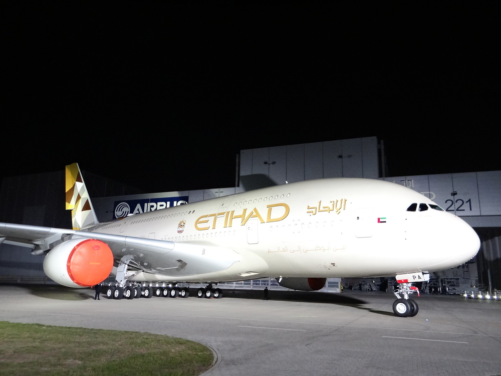 And, of course, a view of the whole aircraft. I like Etihad's new livery!