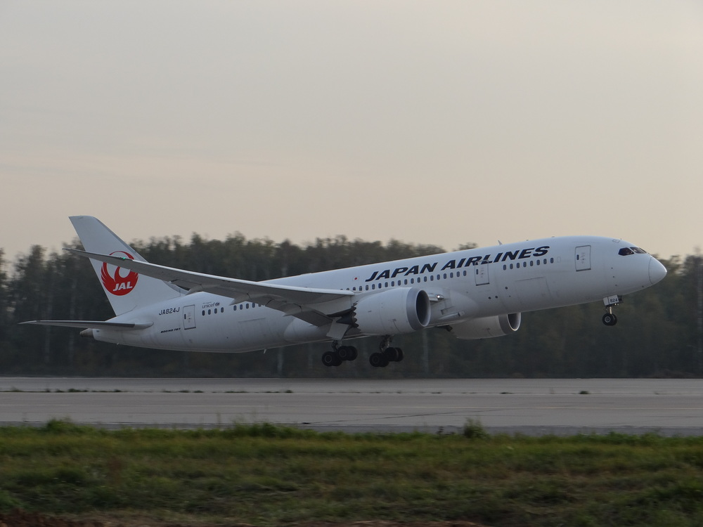 A Japanese Dreamliner heading home