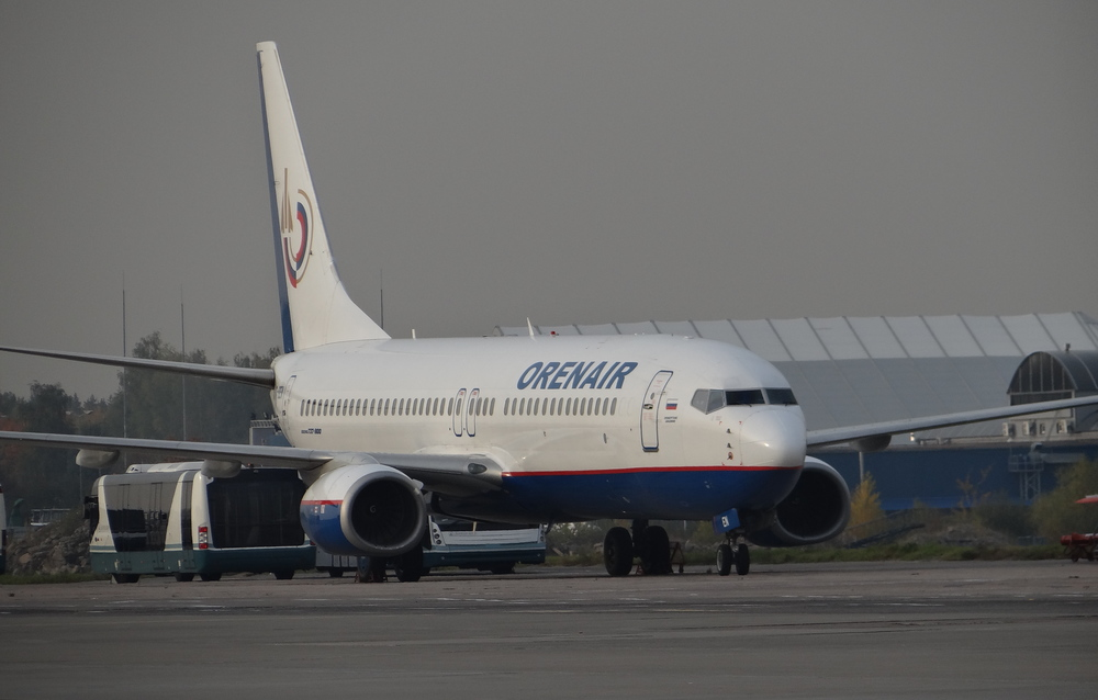 Orenair, the charter airline of the Aeroflot group, that took over flights from low cost carrier Dobrolet, when the latter was grounded because of EU sanctions against Russia
