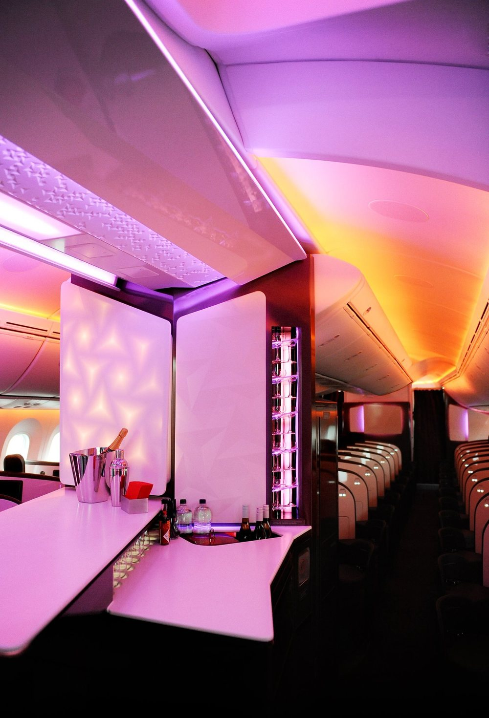 This being Virgin Atlantic, a bar could not be missing! Picture:  Virgin Atlantic