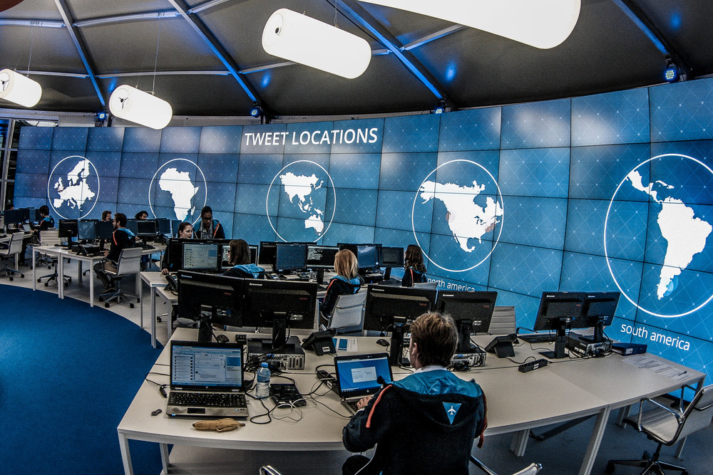 Not NASA, but KLM's social media center. Picture: KLM