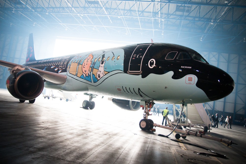 Brussels Airlines Tintin Airbus