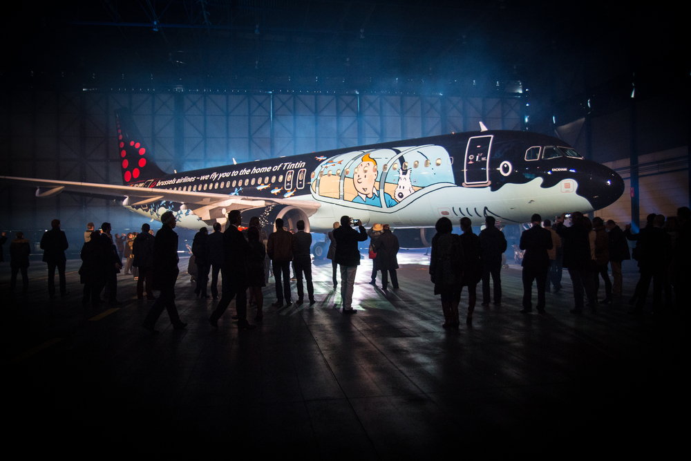Tintin Brussels Airlines livery