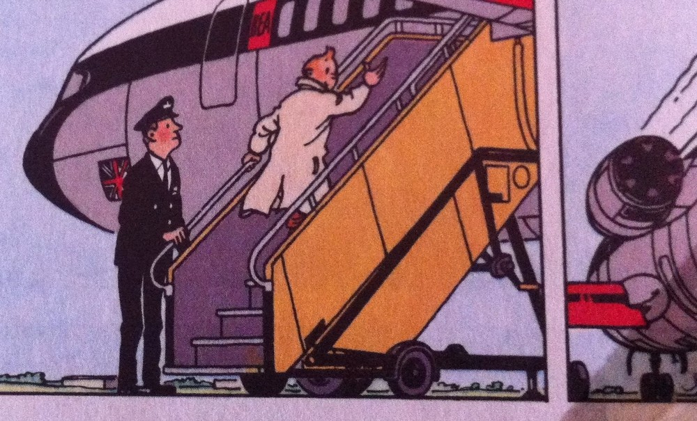 Tintin BEA De Havilland Trident