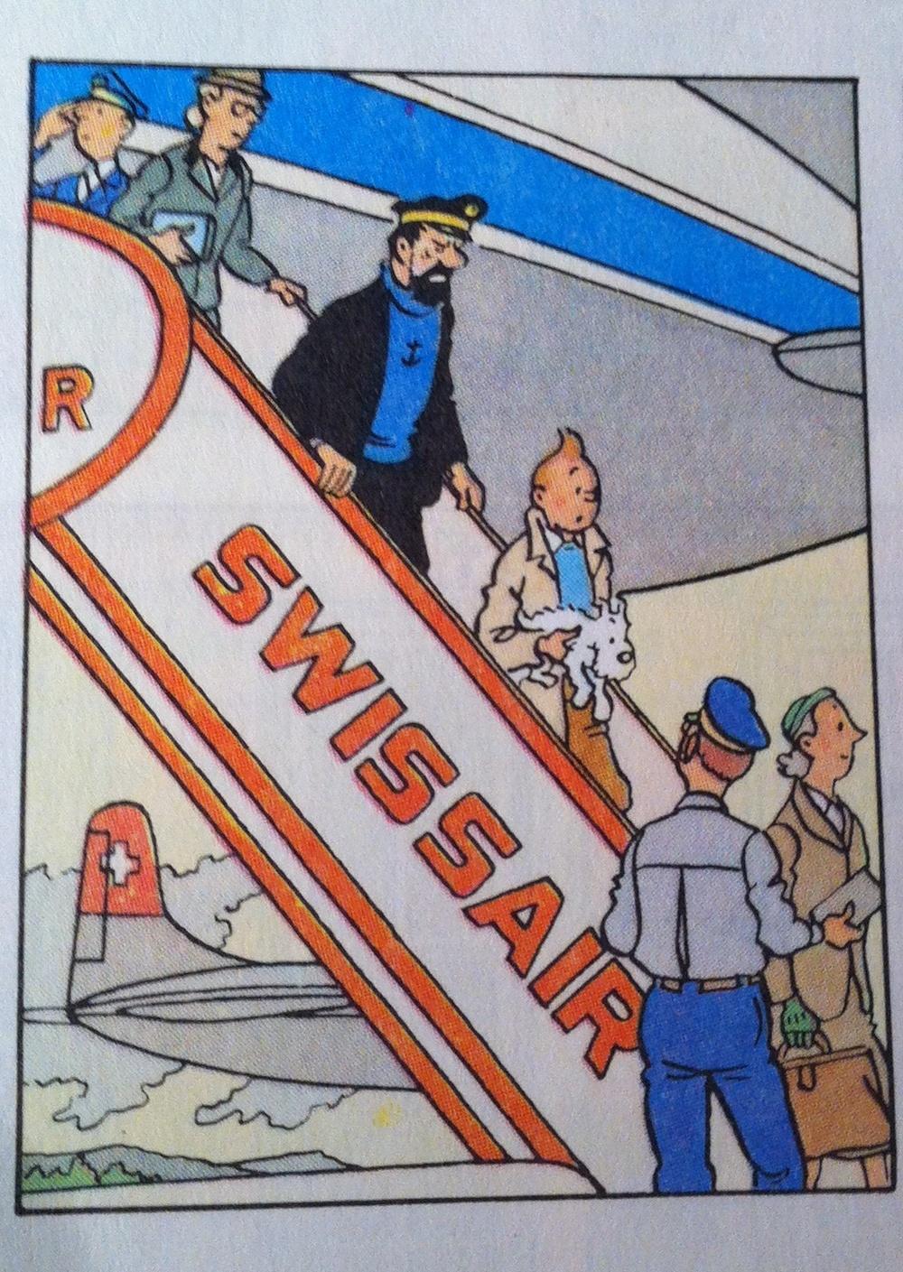 Tintin Swissair Cointrin
