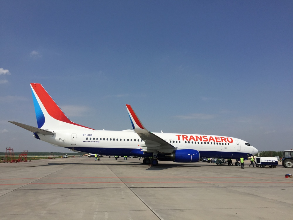 Transaero's new livery: looking good on an equally new Boeing 737-800