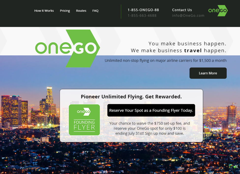 OneGo flat fee airlines
