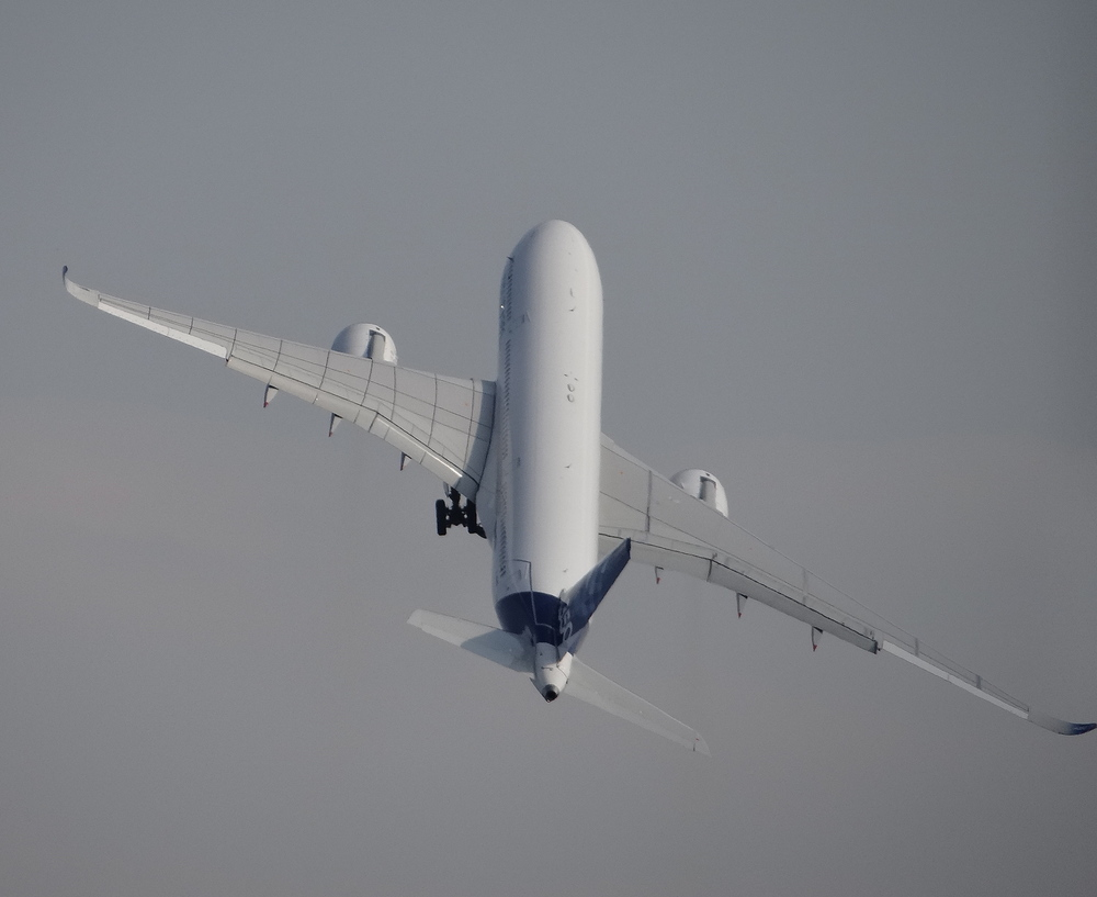 a350 in flight