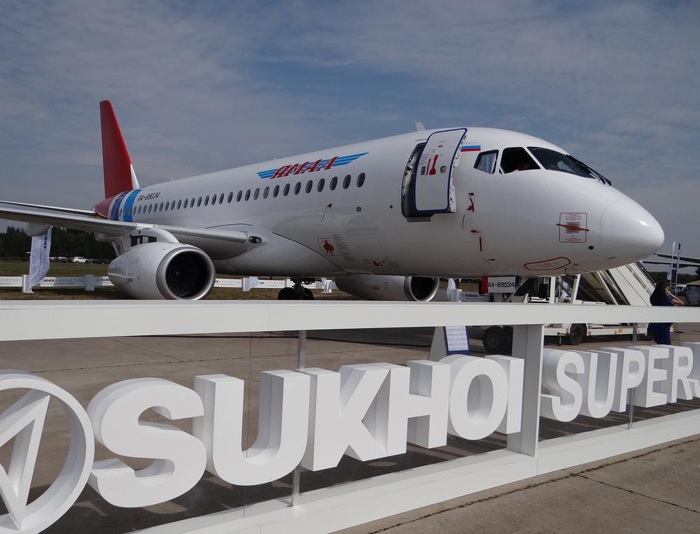 SSJ Superjet MAKS