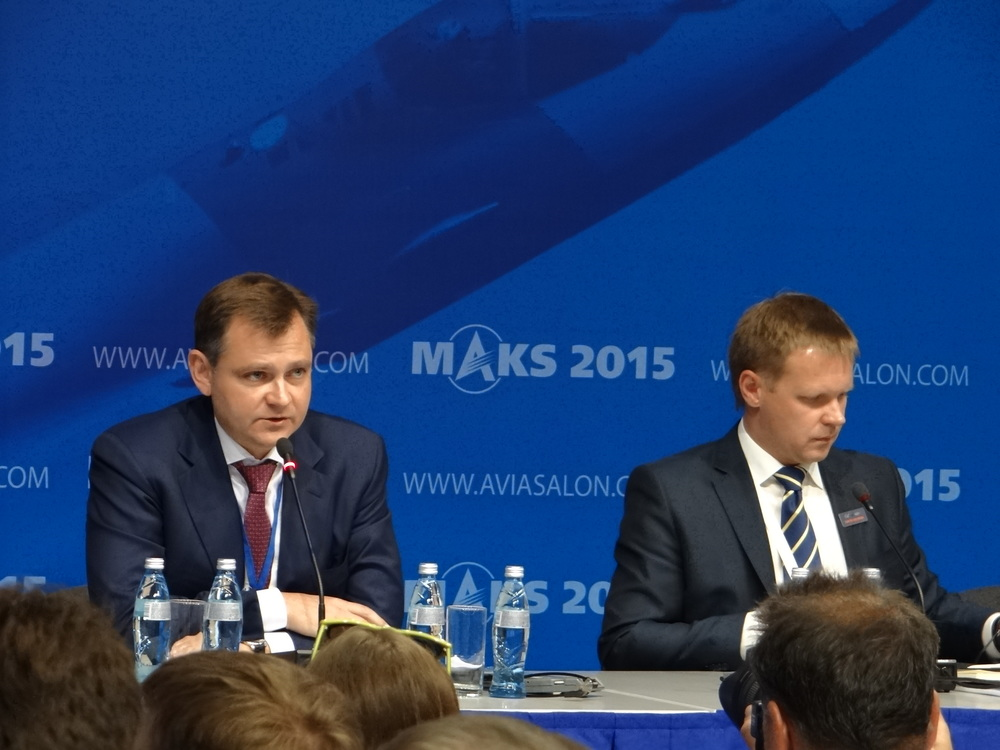 Yuri Slyusar during the UAC press conference at MAKS