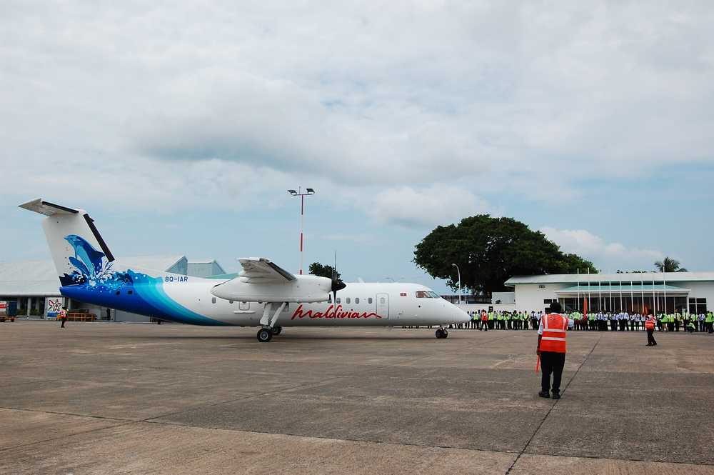 The latest addition to Maldivian's fleet 8Q-IAR (ex-ANA)