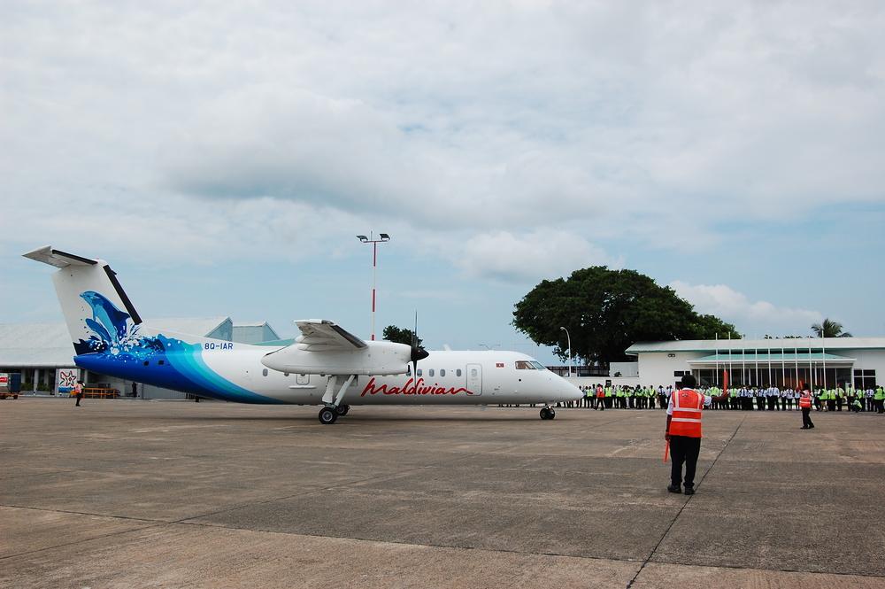 The latest addition to Maldivian's fleet 8Q-IAR (ex-ANA)