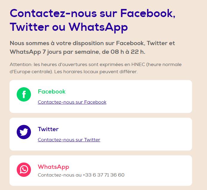 transavia whatsapp
