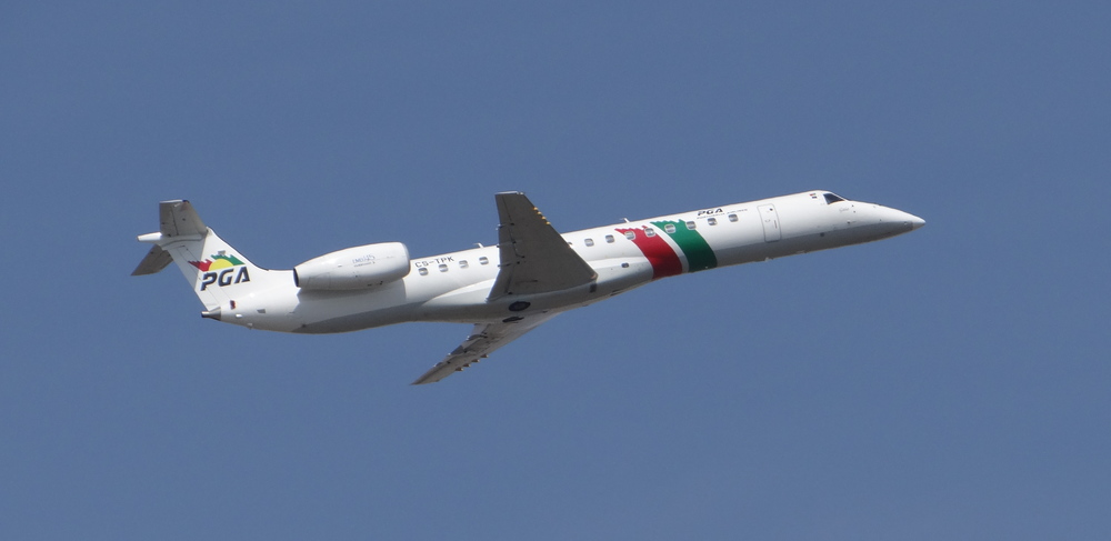 Another interesting aircraft operated by Portugalia, an Embraer ERJ-145