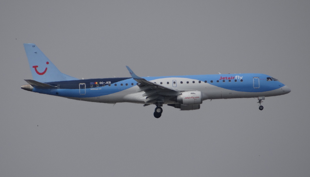 And now that we are at it...another Embraer, an E190 operated by Jetair Fly, TUI's Belgian subsidiary