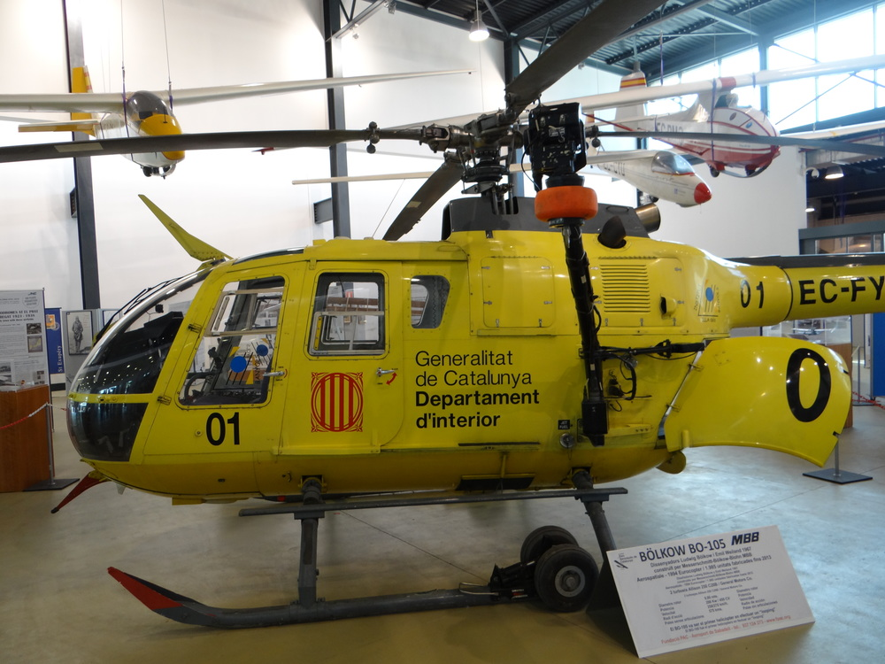 This helicopter's primary role was in support of Catalonia's fire brigade in search and rescue missions, but, on occasions, it also served as VIP transport for the Catalan president