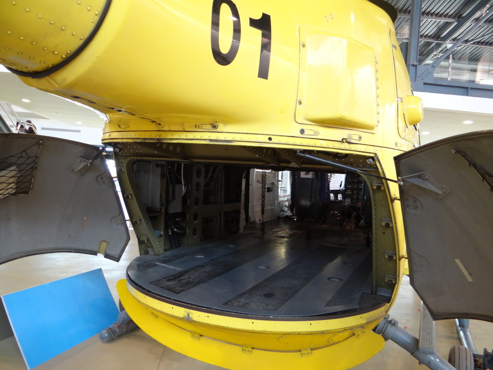 The rear side of the MBB Bo-105