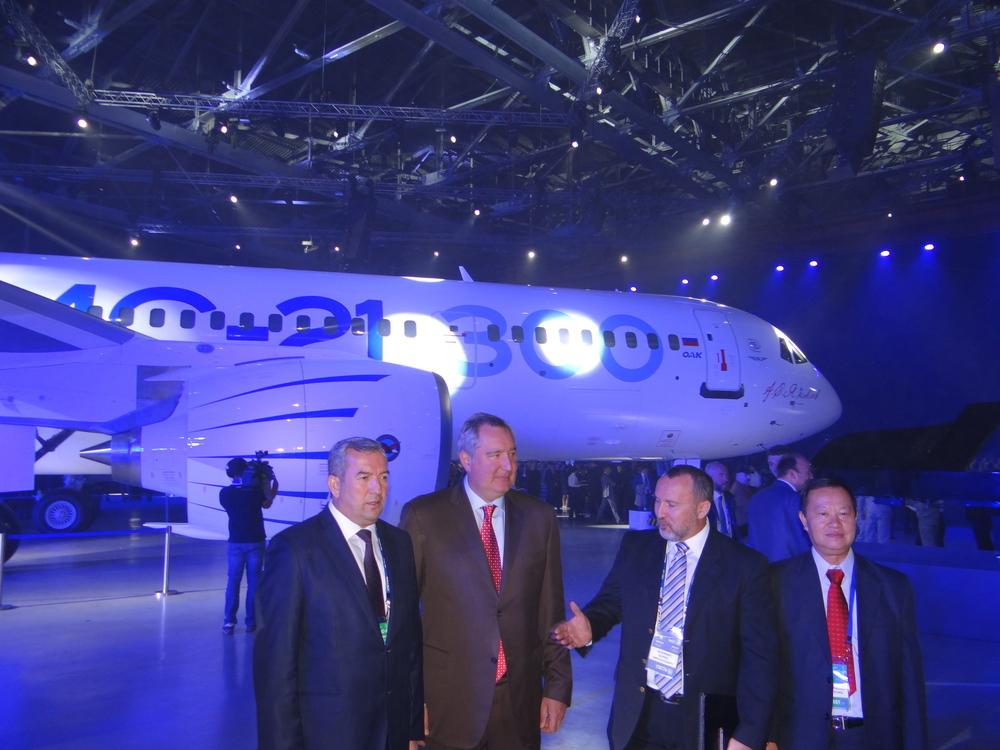Dmitry Rogozin, deputy prime minister of Russia, in brown suit
