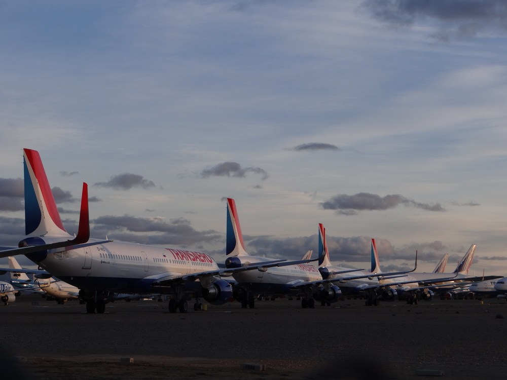 Many former Transaero aircraft are in storage in Spain