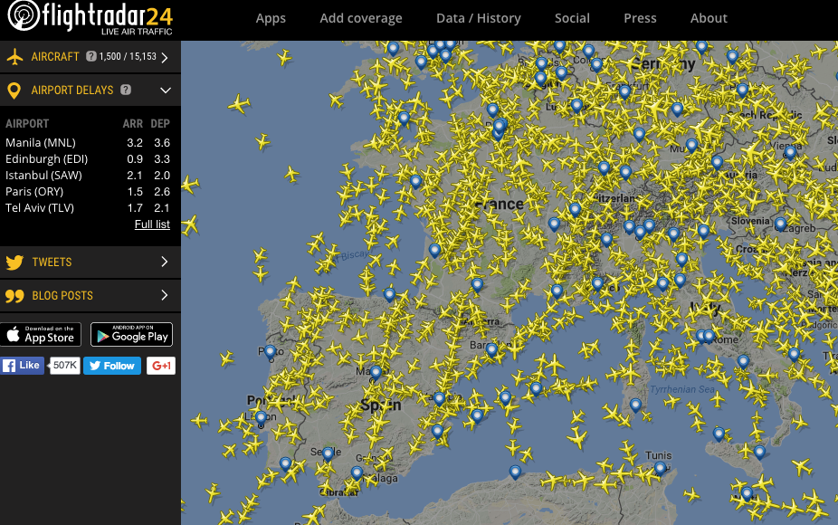 flightradar24 screen