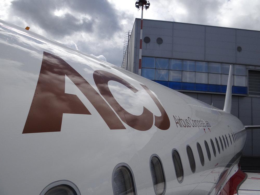 Airbus ACJ close up