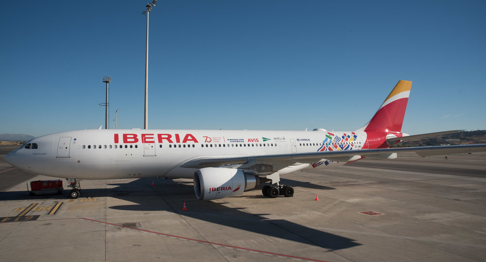 Iberia is marking 70 years of presence in Latin America with a number of events and a special livery. Picture: Iberia