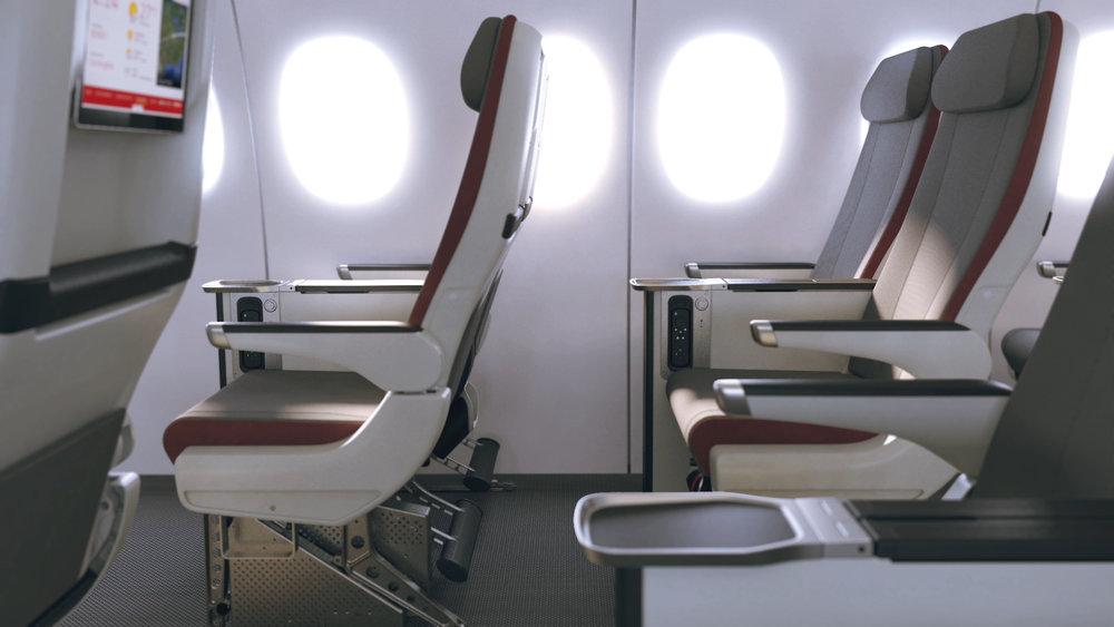 Iberia premium economy cabin