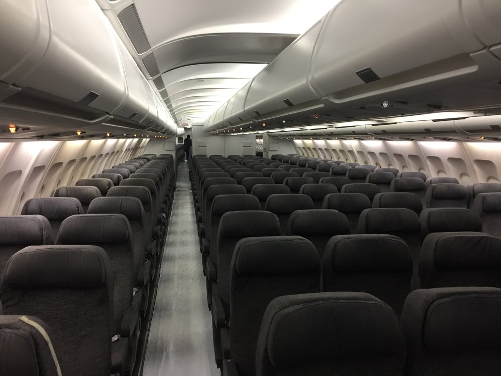 The current TAP A330 cabin interior - the new ones will come with a new generation cabin interior concept