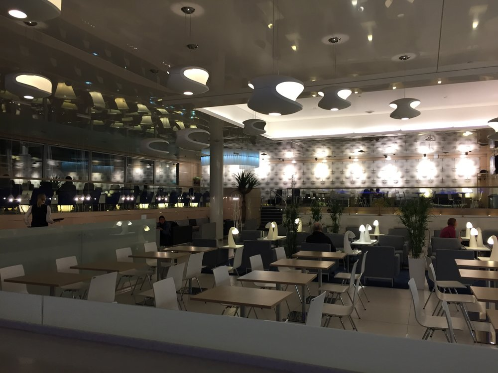 And this is Finnair's main lounge - at the non-Schengen area of the airport
