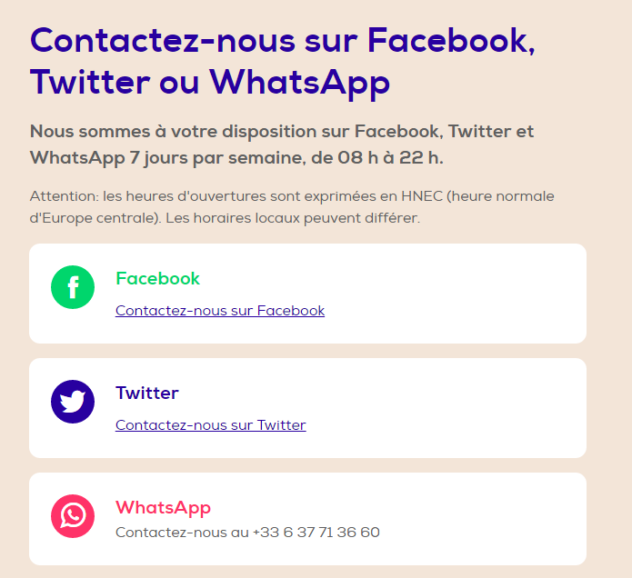 Transavia whatsapp line