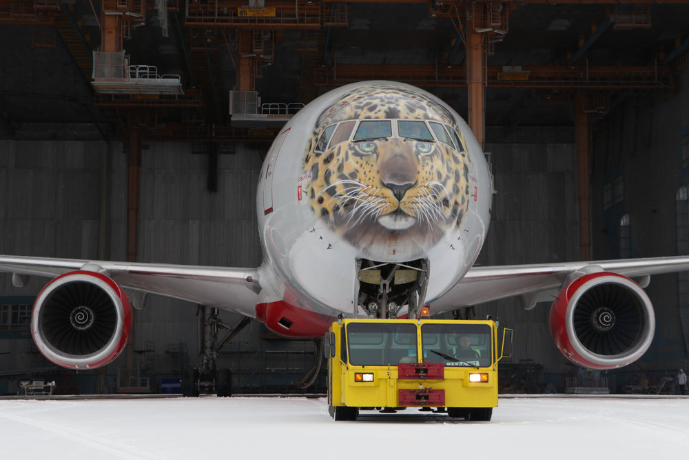 Rossyia Tigrolet B777 leopard livery