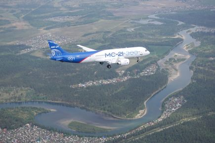 Irkut MC21 first flight