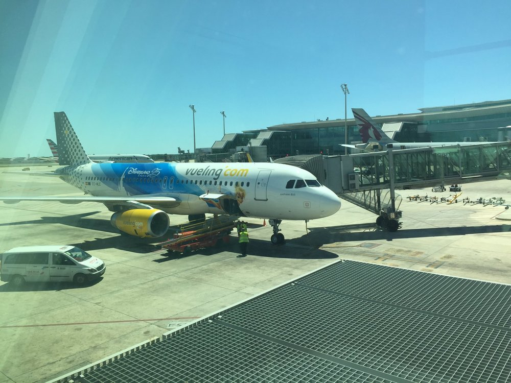 Vueling's Disney A320 - both Iberia and Vueling are part of IAG and it appears that both aircraft have been decorated with Disney motives as part of the same promotional initiative