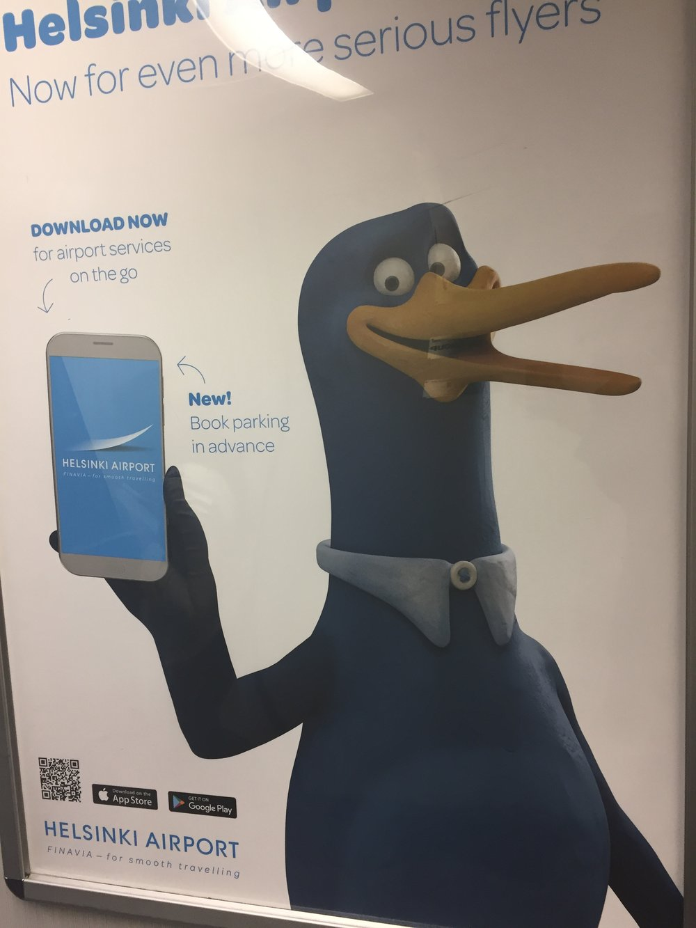 Ad for the Helsinki airport app, that we had the chance to talk about  in a previous post