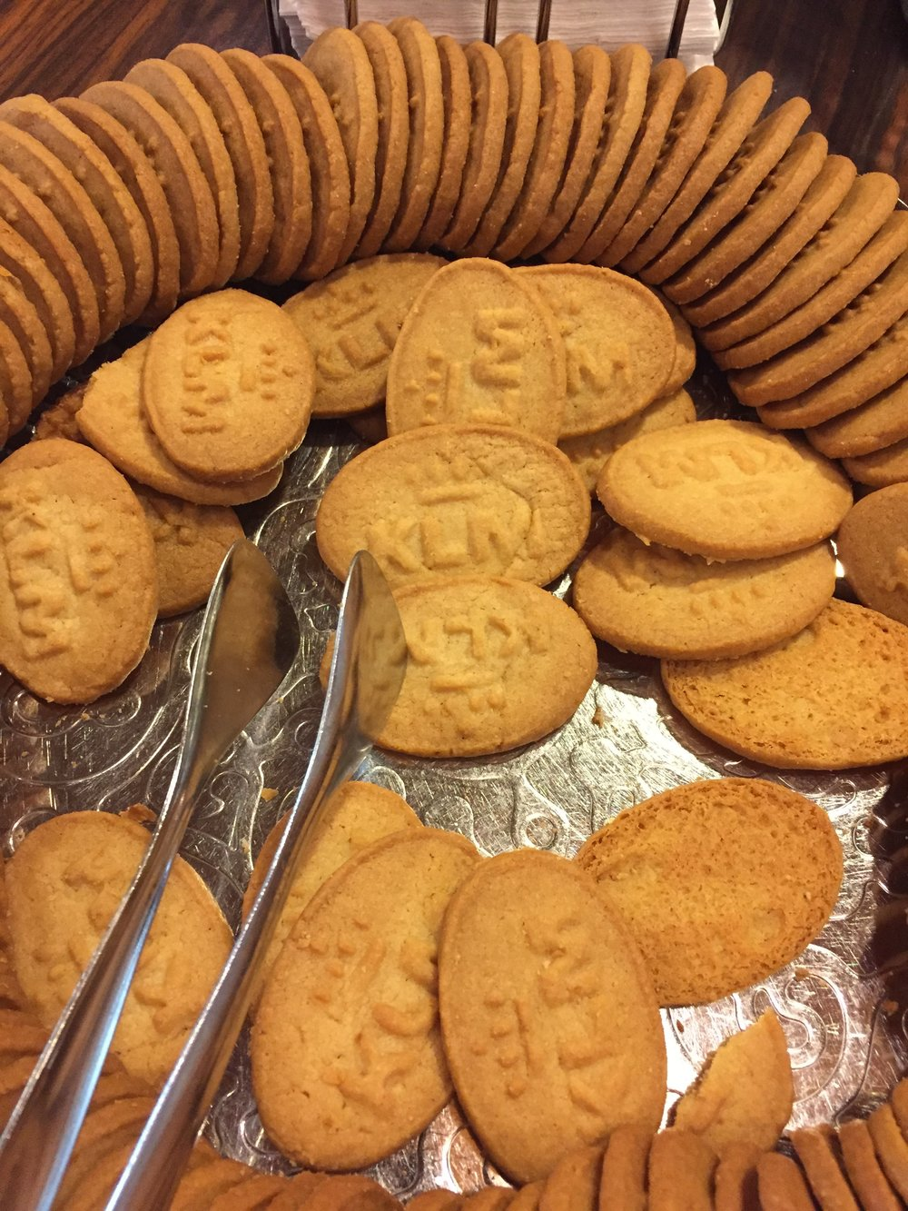 Some KLM-branded Dutch butter cookies - tasty!