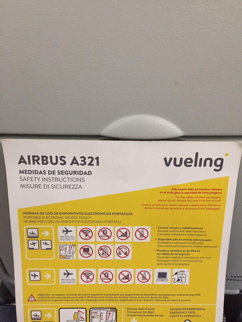 Despite being a regular Vueling customer, first time for me on one of its A321s