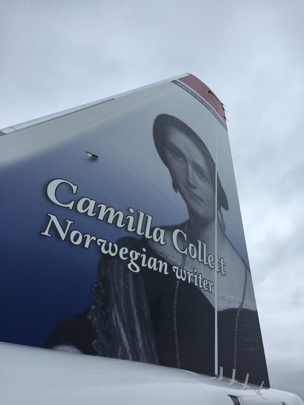We flew on EI-FVN, a barely three-month old plane that honours  Camilla Collett , a Norwegian author I must admit I had not head about before