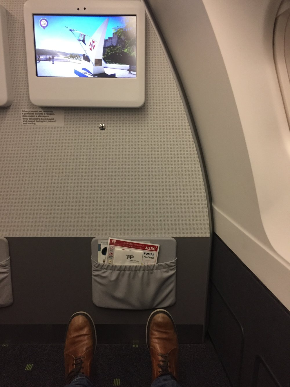 Seat pitch is taken for granted in business class, but, still...