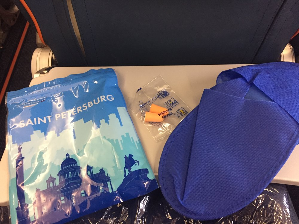 Here the contents of Aeroflot economy class amenity bag
