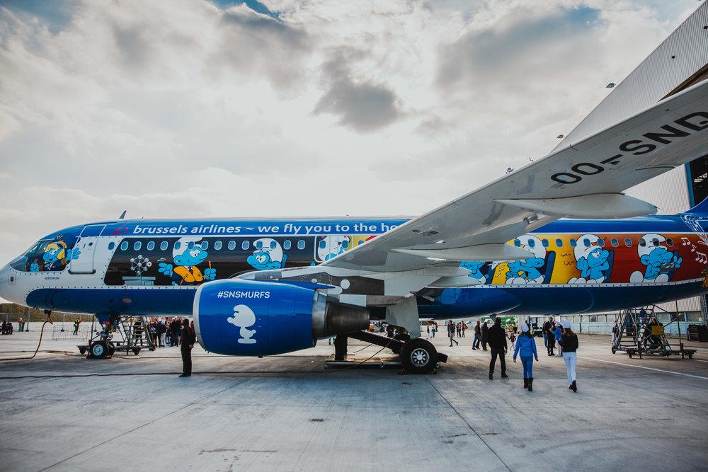 brussels airlines smurfs.jpg