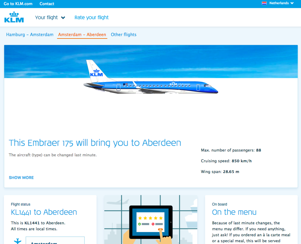 klm info for your flight