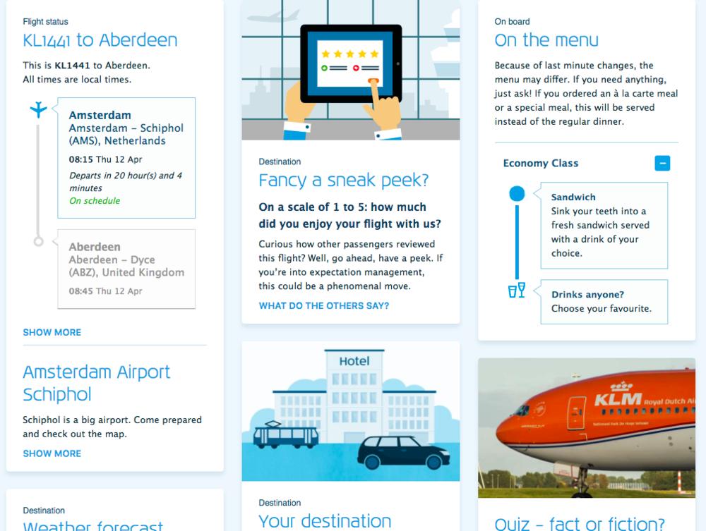 klm digital booking page